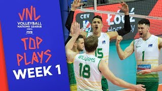 Top Plays of Men's #VNL2019   Week 1   Volleyball Nations League 2019