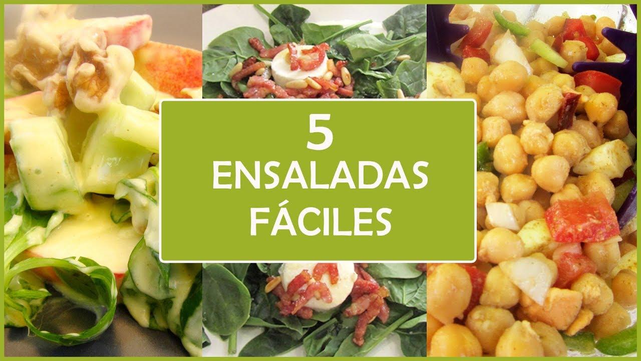 5 recetas de ensaladas f ciles y r pidas youtube for Comidas ricas y faciles de preparar
