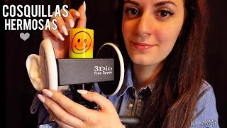 ♡ASMR español♡ COSQUILLAS Hermosas para Ti! (ear tapping,blowing,cupping,crinckle,scratching)