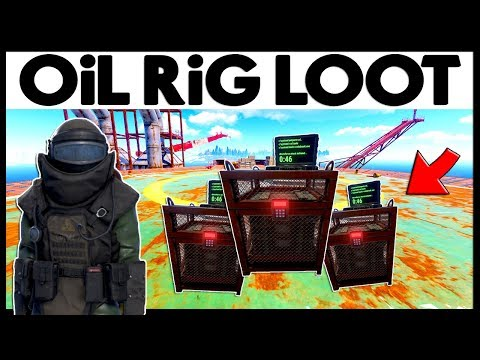 Rust SMALL OiL RiG LOOT! - WEALTHY ECO RAID - Heavy Scientist Suit (Rust Modded Raids) thumbnail