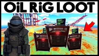 Rust SMALL OiL RiG LOOT! - WEALTHY ECO RAID - Heavy Scientist Suit (Rust Modded Raids)