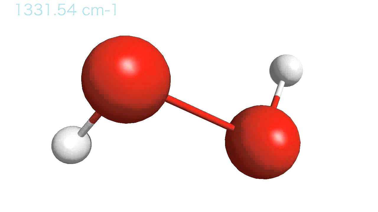 Vibration of a hydrogen peroxide molecule - YouTube