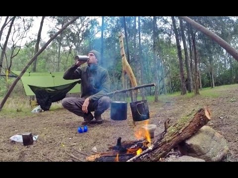 Medium image of bushcraft hammock camping