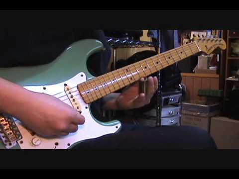 Stratocaster - Slide Guitar (Open E)  Blues Jam