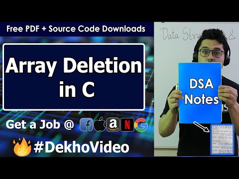 Coding Deletion Operation in Array Using C Language (With Notes)