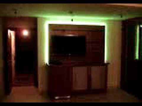 Mueble para lcd con luces amoblamientos mcg youtube - Luces led a pilas para armarios ...