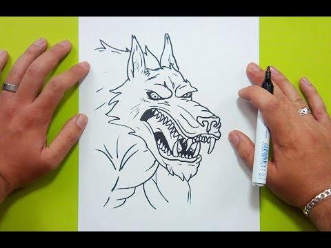 Como dibujar un hombre lobo paso a paso 3 | How to draw a werewolf 3 ...