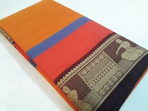 80 Count Chettinad Cotton Saree With Running Blouse, Fabric 100% Pure Cotton