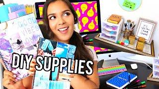 DIY School Supplies! + Back To School Room Decor & Organization!