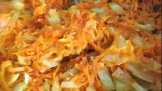 Рецепт салата  Теплый рыбный салат с рисом