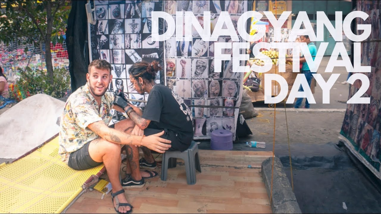 Getting a TATTOO in DINAGYANG Festival Iloilo I Philippines
