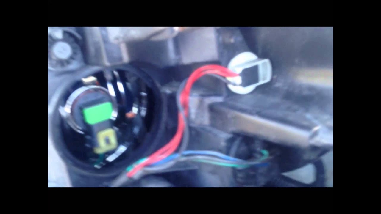 How To Change Chevy Impala Headlight Bulb Youtube