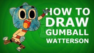 How to draw Gumball Watterson - The Amazing World of Gumball
