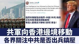 川普指香港形勢嚴峻 各界關注中共是否出兵鎮壓|新唐人亞太電視|20190814
