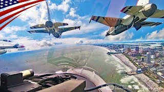 F-16 Aerobatics in Very Close Formation [Cockpit View]