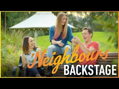 Neighbours Backstage  Mavournee Hazel Piper Willis Shooting The New  Titles