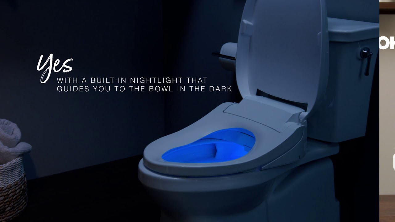 Kohler Cleansing Seat With Integrated Nightlight Youtube