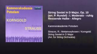 String Sextet in D Major, Op. 10 (arr. P. Rundel) : I. Moderato - ruhig fliessende Halbe - Allegro