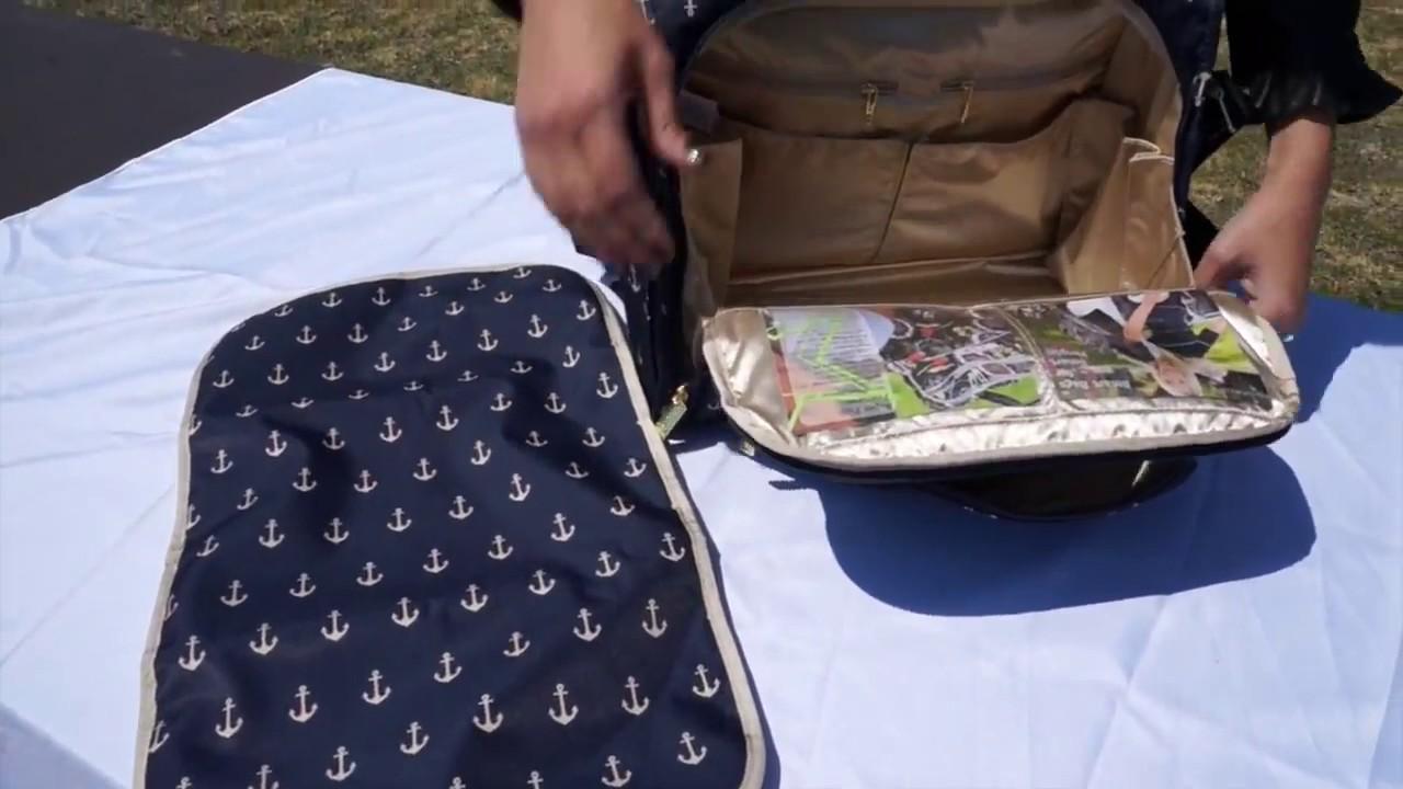 3b89a0e81225 Ju Ju Be Legacy Collection B F F Convertible Diaper Bag - YouTube