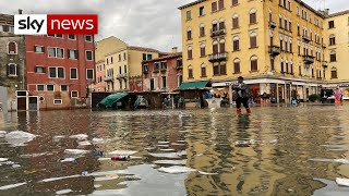 Venice floods: 70 per cent of historic centre under water