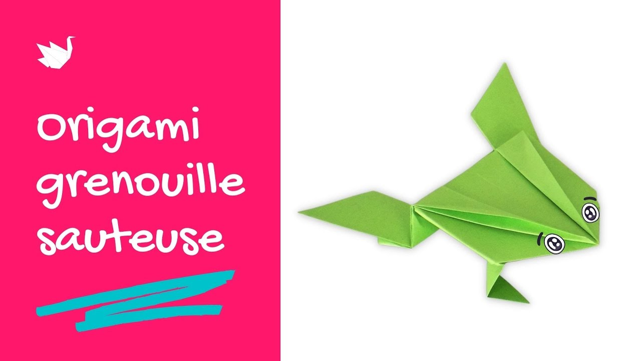 Comment faire un origami grenouille sauteuse tutoriel youtube - Comment faire origami ...