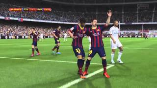 FIFA 14 - Gameplay PlayStation 4 - Barcelona Vs Real Madrid - PS4