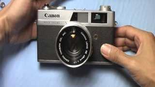 キャノン キャノネットQL17初期型の使い方 CANON CANONET QL17 the first How to use 1960s Rangefinder camera