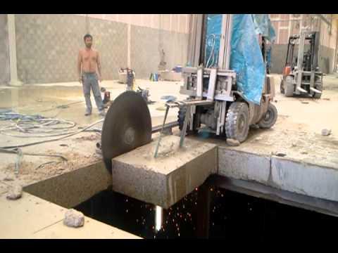 Corte de losa de hormigon armado con discos diamantados for Corte de pavimentos de hormigon