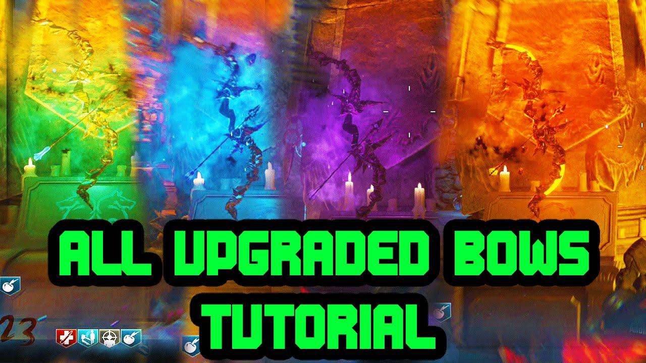 All Bow Upgrade Steps! Fire  Void  Wolf  Teleport  Der Eisendrache  Easter Egg Tutorial!  Youtube