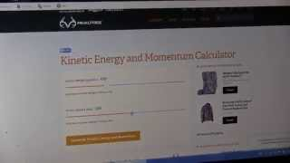 Introducing the Realtree.com Kinetic Energy and Momentum Calculator