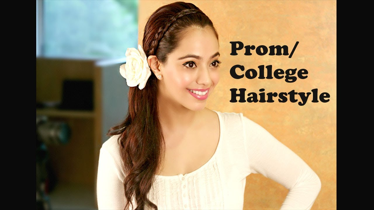 prom hairstyle/college party hairstyle (hindi)