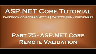ASP NET core remote validation