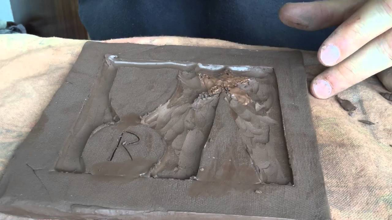 Making a relief clay tile youtube