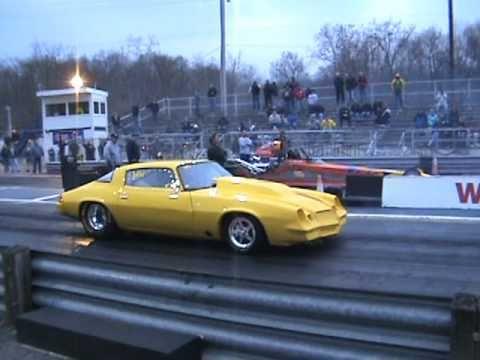 Camaro Vs Mustang >> 9.6 second yellow 2nd Gen Camaro Drag Race - YouTube