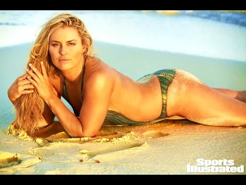 Lindsey Vonn Paint >> Lindsey Vonn joins in the body-paint fun in SI Swimsuit Issue - YouTube