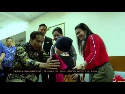Senangnya Shakira Dikunjungi Dan Dapat Hadiah Dari Jokowi