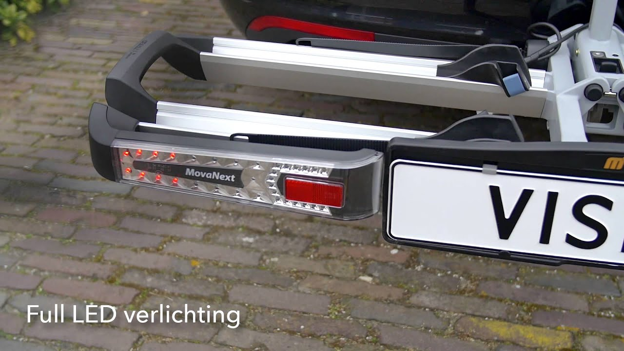 Fietsendrager Verlichting Movanext Lux Vision Fietsendrager Productdemonstratie