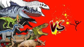 Dinosaurs Battle | Human VS Jurassic World Dinosaurs