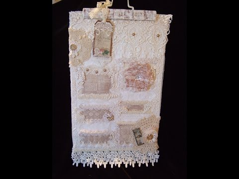 Tresors de Luxe DT Fabric & Lace Wallhanging