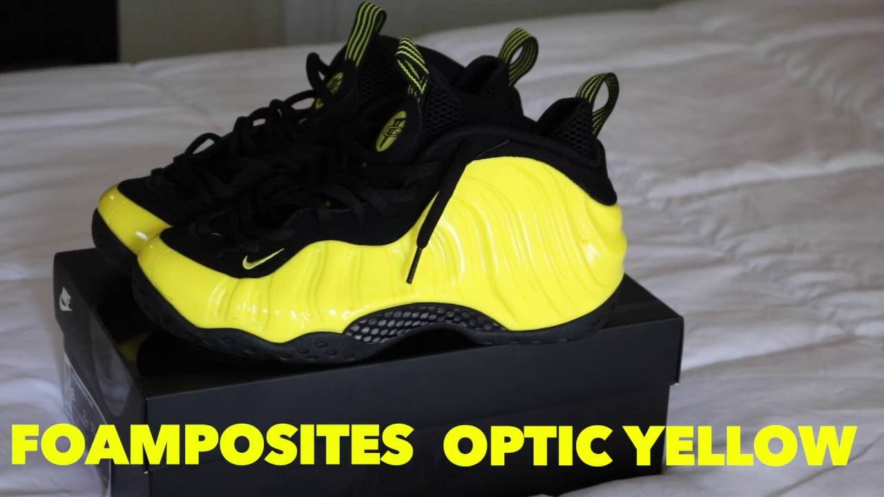 45de3c9860a FOAMPOSITES OPTIC YELLOW REVIEW AND ON FEET! - YouTube