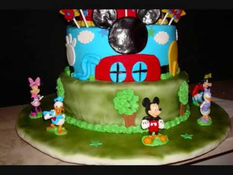 Mickey Mouse Playhouse Theme Birthday Cake YouTube