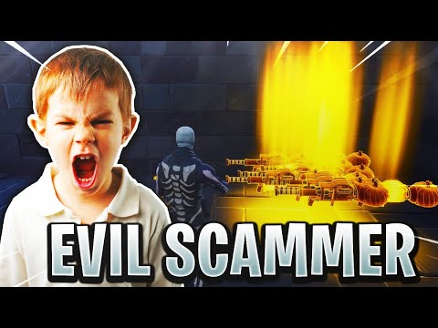 Evil Scammer Loses 50 Pumpkin Launchers! (Scammer Gets Scammed) In Fortnite Save The World