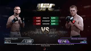 UFC EA Sports Boxing Timothy Elliott VS Louis Gaudinot Gameplay