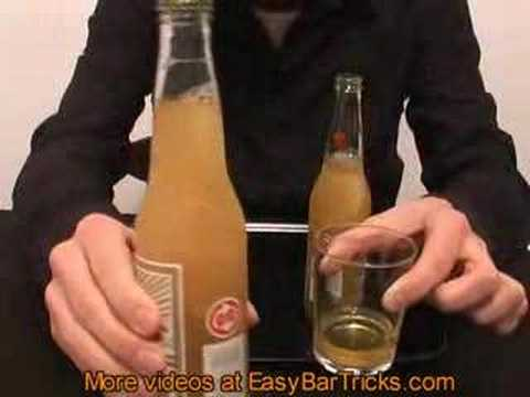 Freeze A Beer In Two Seconds - Bar Tricks