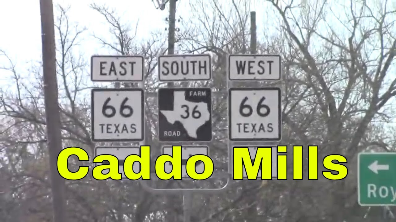 Caddo Mills TX Hwy 66 Downtown Small Towns Texas Tour -- Channel Jamesss Today