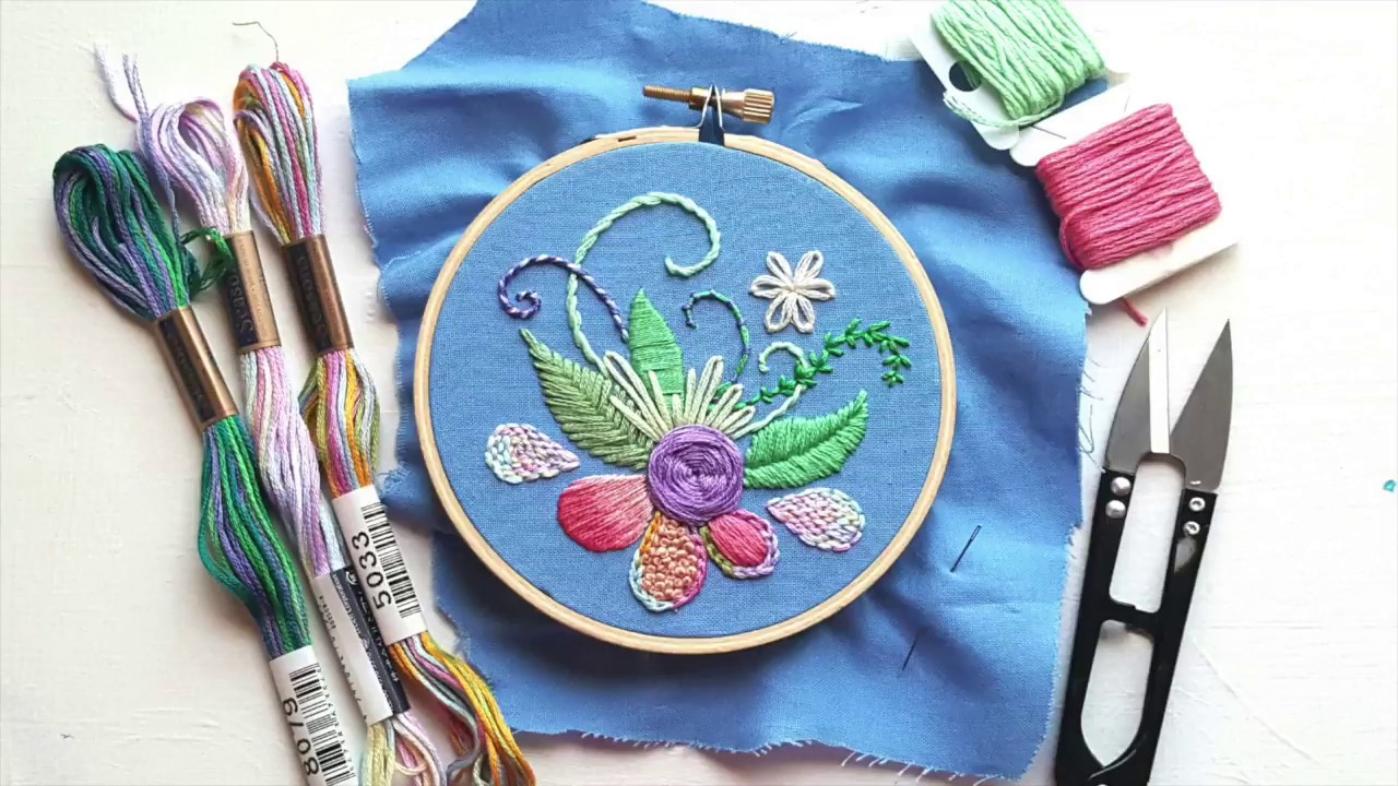 Top modern hand embroidery stitches fast version youtube for Embroidery office design version 9