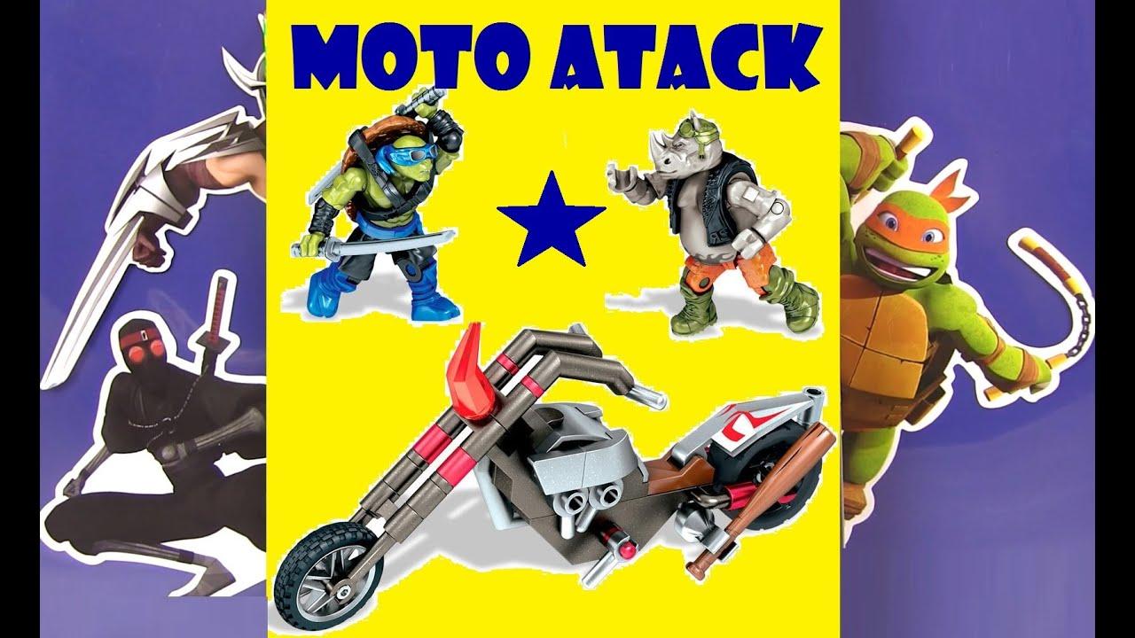 Черепашки Ниндзя Мультик! МОТО АТАКА!!! Moto Attack ...