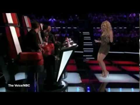 """Shakira """"torturó"""" a Adam Levine con el movimiento de sus caderas."""