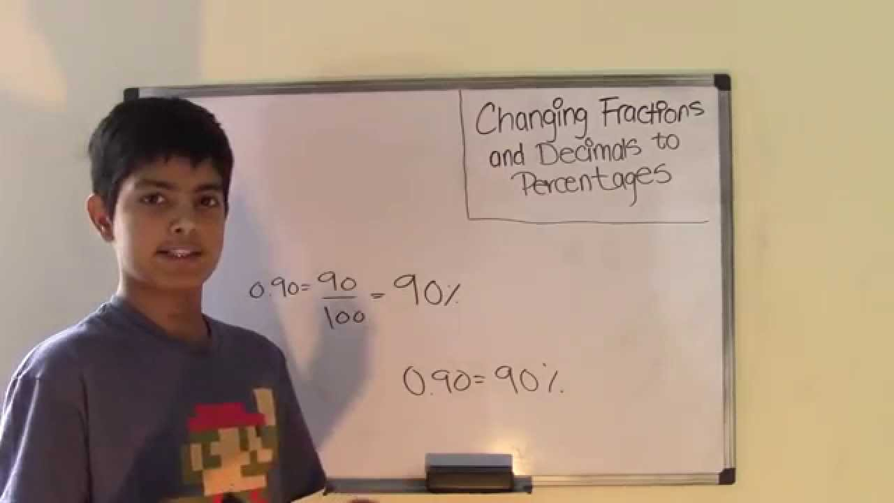 6th Grade Math Changing Fractions and Decimals to Percentages - YouTube [ 720 x 1280 Pixel ]