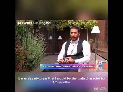 Can Yaman interview by Erkenci Kus  English